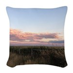 Prairie Summer Sunset Woven Throw Pillow