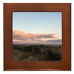 Prairie Summer Sunset Framed Tile