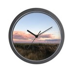Prairie Summer Sunset Wall Clock