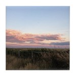 Prairie Summer Sunset Tile Coaster
