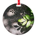 Leaf Shadow Round Ornament