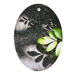Leaf Shadow Ornament (Oval)