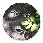 Leaf Shadow Round Car Magnet