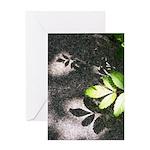 Leaf Shadow Greeting Cards