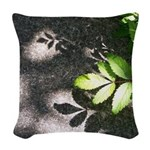 Leaf Shadow Woven Throw Pillow