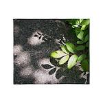 Leaf Shadow Throw Blanket
