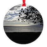 Seaside Tree Round Ornament