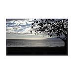 Seaside Tree Rectangle Car Magnet