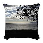 Seaside Tree Woven Throw Pillow