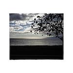 Seaside Tree Throw Blanket