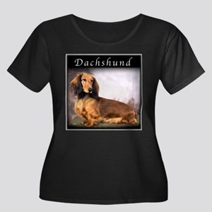 Dachshund Longhaired Women's Plus Size Scoop Neck