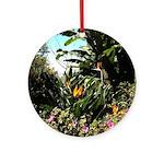 Tropical Gardens on Maui Ornament (Round)