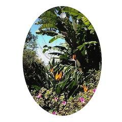 Tropical Gardens on Maui Ornament (Oval)