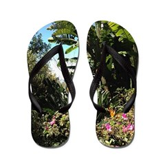 Tropical Gardens on Maui Flip Flops