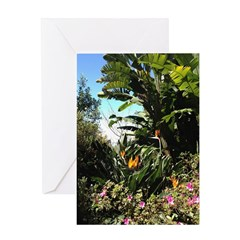 Tropical Gardens on Maui Greeting Cards