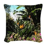 Tropical Gardens on Maui Woven Throw Pillow
