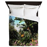 Tropical Gardens on Maui Queen Duvet