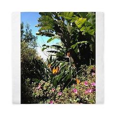 Tropical Gardens on Maui Queen Duvet