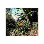 Tropical Gardens on Maui Throw Blanket