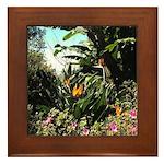 Tropical Gardens on Maui Framed Tile