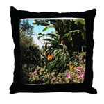 Tropical Gardens on Maui Throw Pillow