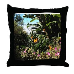 Tropical Gardens on Maui Throw Pillow