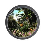 Tropical Gardens on Maui Wall Clock