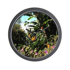 Tropical Gardens on Maui Wall Clock