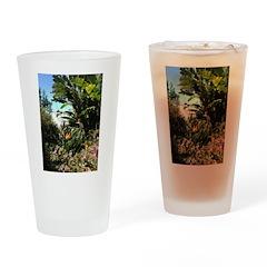 Tropical Gardens on Maui Drinking Glass