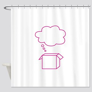 Think out of the box Shower Curtain