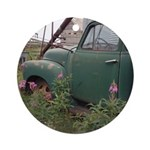 Farm Truck with Flowers Ornament (Round)