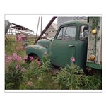 Farm Truck with Flowers Small Poster