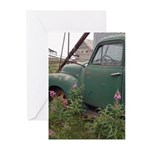 Farm Truck with Flowers Greeting Cards