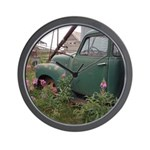 Farm Truck with Flowers Wall Clock