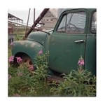 Farm Truck with Flowers Tile Coaster