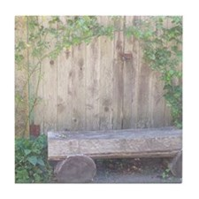 Rustic Bench Tile Coaster