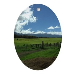Maui Meadows Ornament (Oval)