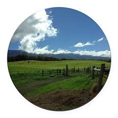 Maui Meadows Round Car Magnet