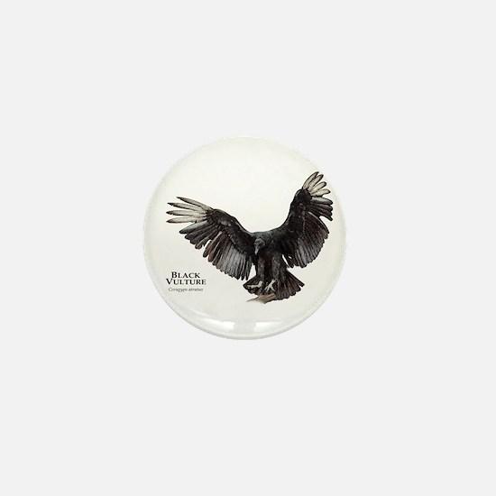 Black Vulture Mini Button