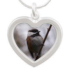 Chickadee Winter Necklaces