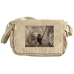 Chickadee Winter Messenger Bag