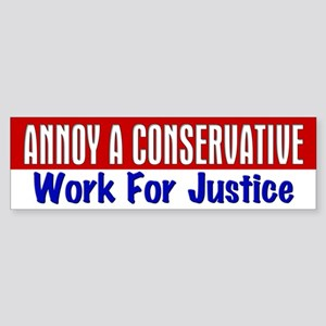 AAC Work For Justice Bumper Sticker