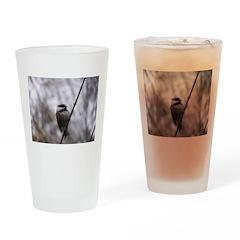 Chickadee Winter Drinking Glass