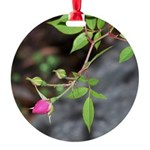 Perfect Pink Bud Round Ornament