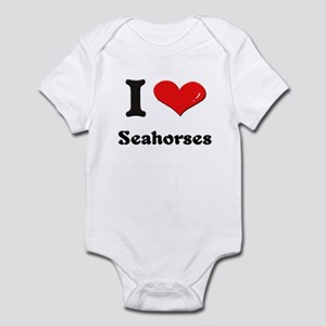 I love seahorses  Infant Bodysuit