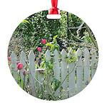Cheerful Garden Round Ornament