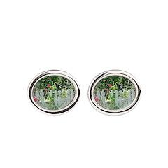 Cheerful Garden Oval Cufflinks