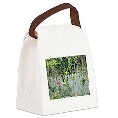 Cheerful Garden Canvas Lunch Bag