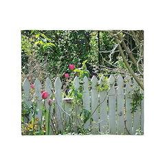 Cheerful Garden Throw Blanket