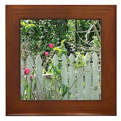 Cheerful Garden Framed Tile